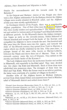 """Kakazai Afghans in Gurdaspur, Punjab in """"The Afghan nobility and the Mughals (1526-1707)"""" - by Rita Joshi (Originally published 1985)"""