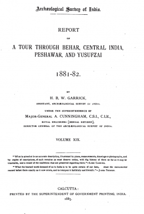 "Kakazai Pashtuns in ""Archaeological Survey of India - Report of a Tour through Behar, Central India, Peshawar, and Yusufzai - 1881-82"" - Volume XIX - by H. B. W. Garrick and Alexander Cunningham (Originally Published in 1885)"