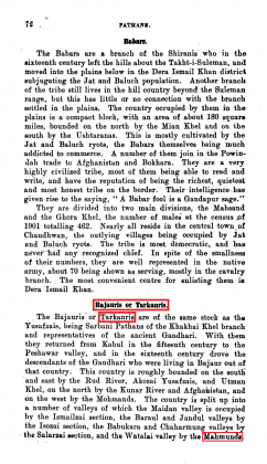 "Kakazai, Mamund and Tarkalani Pashtuns in ""Pathans - Handbook for the Indian Army"" - by Richard Thomas Incledon Ridgway (Originally Published in 1918)"