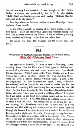 """Kakazai Pashtuns in """"Report of the Commissioners Appointed by the Punjab Sub-Committee of the Indian National Congress, Indian National Congress. Punjab Subcommittee"""" - Volume II - Evidence (Originally Published in 1920)"""
