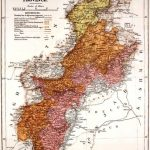 Map - North West Frontier Province - From the Black Mountain to Waziristan - by Colonel H. C. Wylly - Published in 1912 - Size 3162×4095