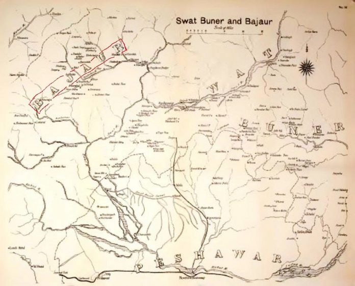 Maps - Swat Buner and Bajaur - From the Black Mountain to Waziristan - by Colonel H. C. Wylly - Published in 1912